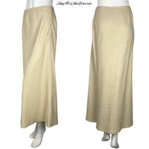 Ann Taylor lined linen bias cut maxi skirt